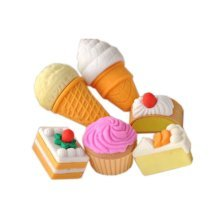 3 Sets Of Creative Cute Cartoon Erasers Western Desserts Modeling