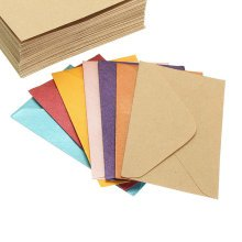 50pcs Vintage Small Colorful Blank Mini Paper Envelopes Wedding Invitation Envelope /Gilt Envelope