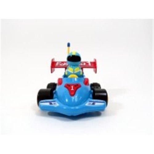 Az Import & Trading MC03B Cartoon RC Formula Race Car for Toddlers Blue, 4 in.