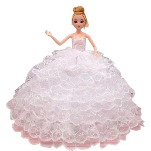 Elegant Dolls Wedding Party Dress Princess Clothes Dolls Outfits for Girl Birthday Gift, O