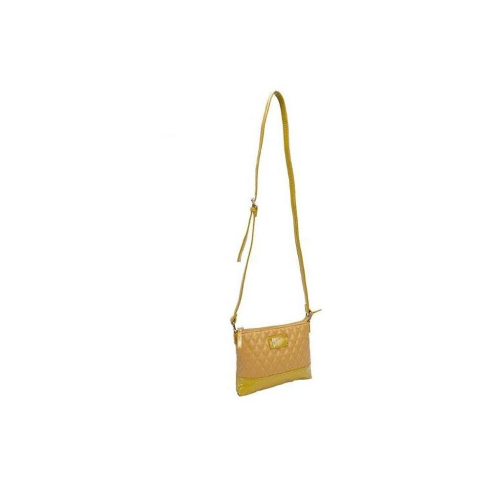 041ffe4e01da Parinda 11204 CARA Quilted Faux Leather Crossbody Bag - Mustard Tan on OnBuy