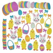 70pc Easter Foam Stickers | Decorative Easter-Themed Sticker Set