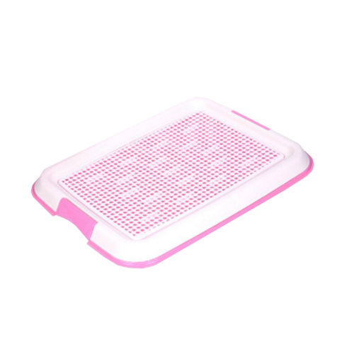 Dog Toilet Puppy Dog Pet Potty Patch Training Pad Pet Supplies 48 X 36 CM Pink