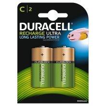 2 x Duracell C Size 3000 mAh Rechargeable Batteries NiMH LR14 HR14 DC1400 ACCU