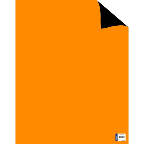 """Primary Color Two Cool Double-Sided Posterboard 22""""X28""""-Black/Orange FOB: MI"""