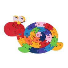 Funny Digital & Letter Wooden Blocks Puzzles Educational Puzzle Snail