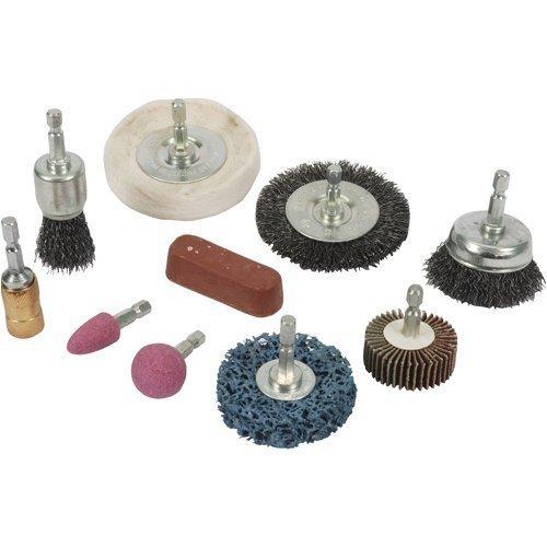 Silverline Cleaning & Polishing Kit 10pce 6mm - 918557 10piece Set -  cleaning polishing kit silverline 918557 10pce 6mm 10piece set