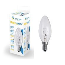 1 X Starmo 48W = 60W Es/E14 Candle Long Life Clear Eco Halogen Light Bulbs Dimmable Energy Saving 750 Lumens