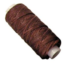 25yd Brown Waxed Braided Cord - Waxed Braided Cord 25 Yds. Brown Lacing Leathercraft Tandy Leather 11210-02