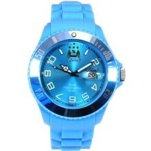 Manchester City FC Analogue Sky Blue Silicone Strap Unisex Watch GA2910-44