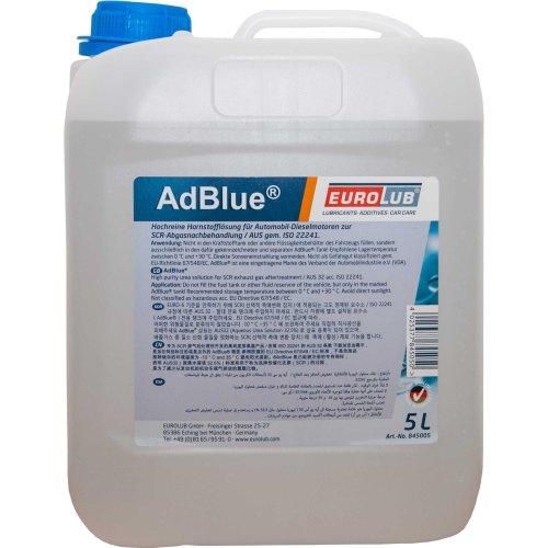 EUROLUB ADBLUE for diesel-exhaust post-treatment, 5 Liters