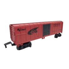 2 Pieces Simulation Railway Carriages Toy/Train Car Toy, Red(17.5*3.7*6CM)
