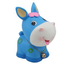 Pretty Cute Home Decor Ornament Money Banks Coin Banks, Blue Pony