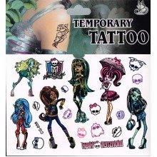 Monster High Tattoo Sheet - 3 Items
