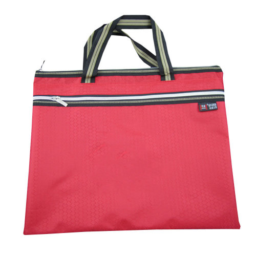 Oxford Jaquard Executive Document Bag Laptop Bag Briefcase (30.5 x 36cm) RED