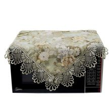 Fashionable Floral Print Microwave Oven Dust Cover Dustproof Cloths Green