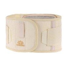 Breathable Mesh Waist Support Trimmer Wrap Lumbar Brace - Light Yellow
