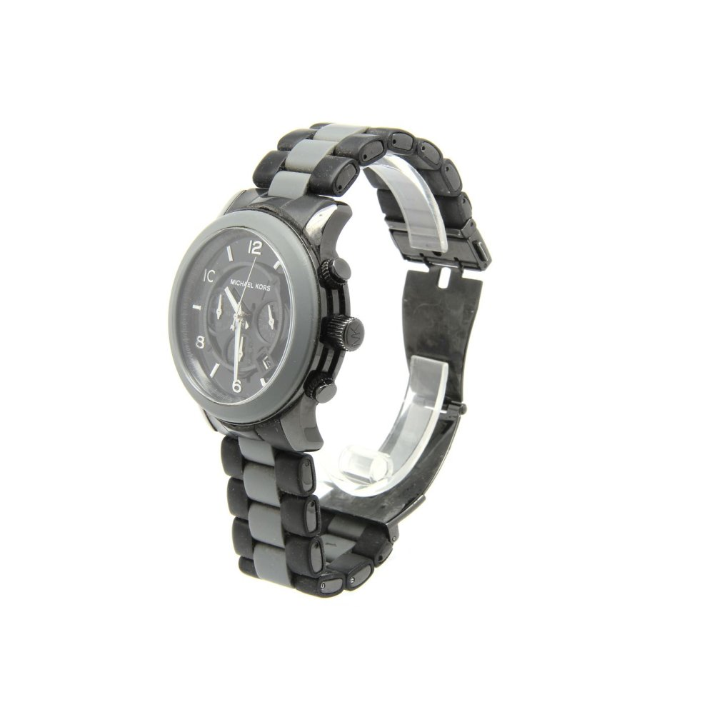765363db5393 Michael Kors Mens Watch With Date Colour Black Grey MK8201 on OnBuy