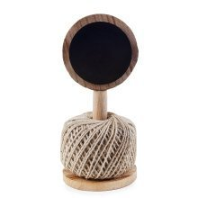 Wooden Twine Ball Holder with Blackboard Garden Accessory