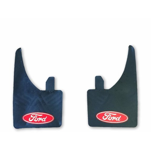 Pair of Red Universal Ford Mudflaps Fits Focus Fiesta Mondeo Escort