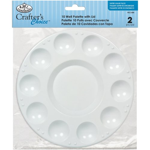 Crafter's Choice 10 Well Palette W/Lid-