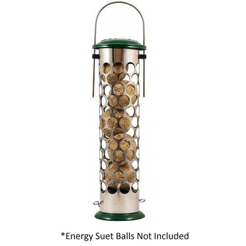 Peckish All Weather Metal Energy Suet Fat Ball Bird Feeder, Large