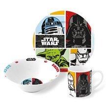 St255 - 3 Piece Ceramic Snack Set - Star Wars - Plate Dinnerware Bowl Childrens -  set star wars ceramic 3 piece plate dinnerware bowl childrens