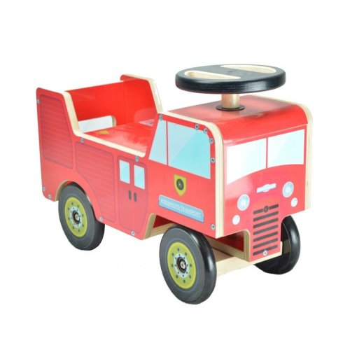 Kiddimoto Toddler Ride-On/Walker - Red Fire Engine - From 12 Months