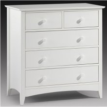 Treck White Stone 3+2 Drawer Chest - Fully Assembled Option