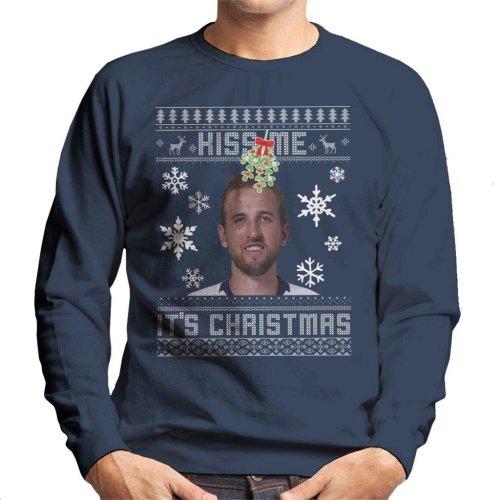 Harry Kane Kiss Me Its Christmas Knit Pattern Men's Sweatshirt