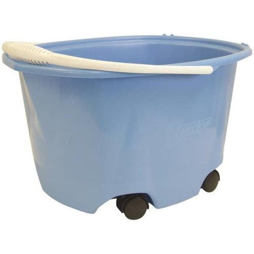 Quickie Manufacturing 3674082 EZ-Glide Bucket On Wheels, 5 gal Capacity, Plastic