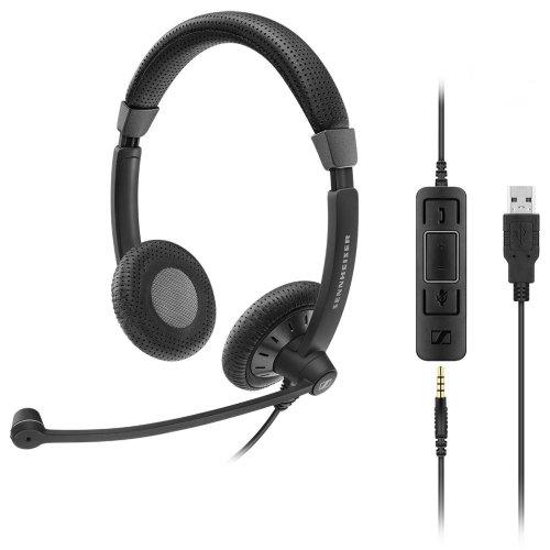 Sennheiser SC 75 USB MS 3.5 mm Binaural Head-band Black headset
