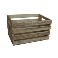 Large Oak Effect Wooden Open Top Storage Box