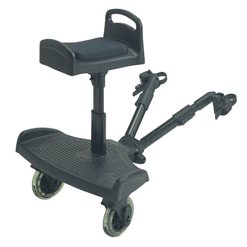 Ride On Board With Saddle Compatible With Stokke Crusi - Black