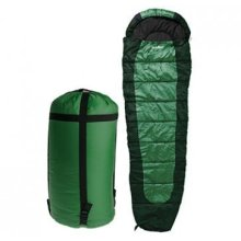 Summit Sleeping Bag - 350gsm Double Layer - Dark Green -  summit sleeping bag 350gsm double layer dark bluedark greenpurple
