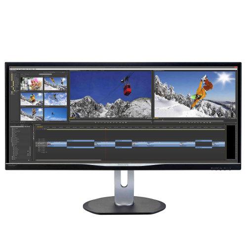 Philips BDM3470 34In Widescreen 4K Monitor -DP DVI HDMI VGA