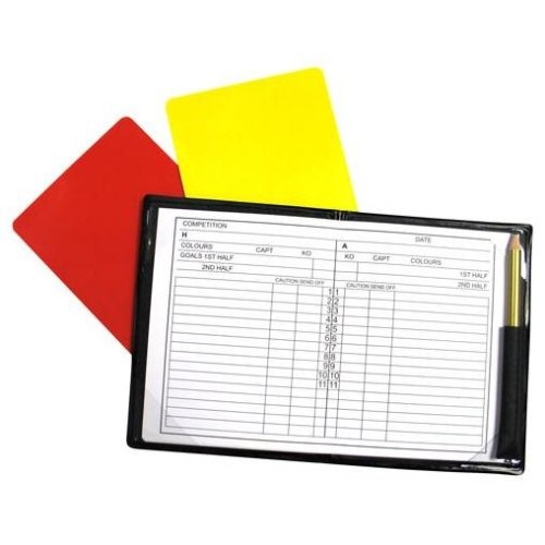 Referees Football Note Book - Precision Training Pad Note Set Yellow Red Card -  precision training note referees pad book notebook set yellow red
