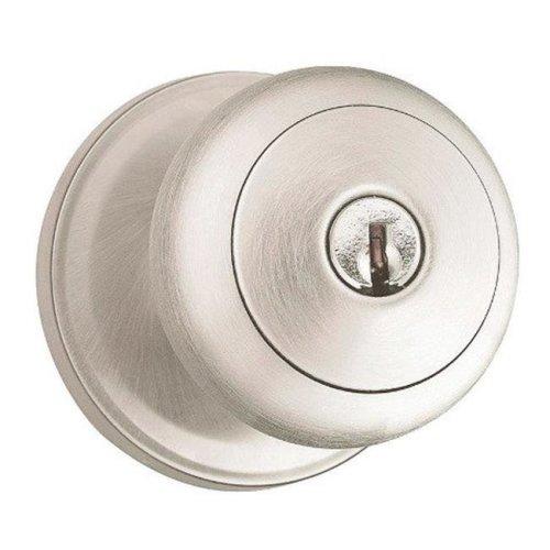 Weiser 9GA5310-108 Troy Entry Knob Lock  Satin Nickel