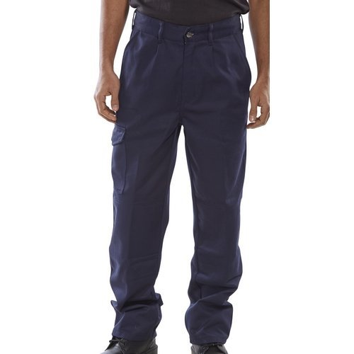 "Click PCT9N26 Polycotton Work Trousers Navy Blue 26"" Regular"