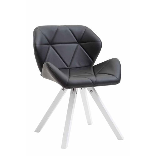 Visitor chair Tyler leatherette Square white