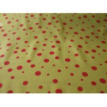 "Funky Spot Poly Cotton Fabric by the metre - 44"" / 112cm Wide - Yellow /  Red"