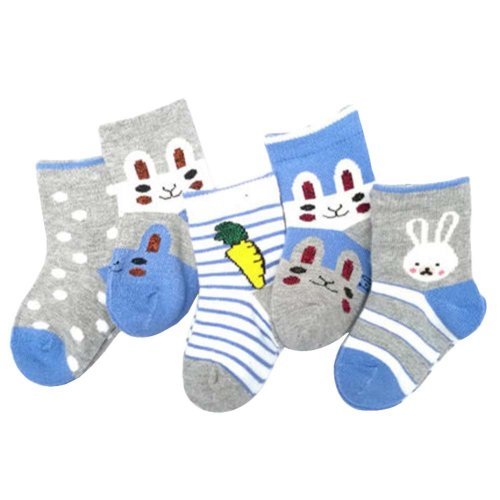 5 Pairs Of Baby Socks Baby Warm Cotton Socks For 1-3 Years Old [D-3]