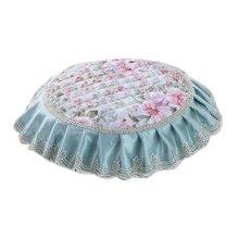 Creative Round Stool Cushion Four Seasons Upholstery Stools Pad Light Blue