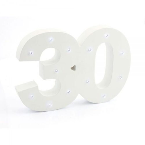 Led Light Up Number 30 Birthday Party Anniversary Decoration Gift Idea