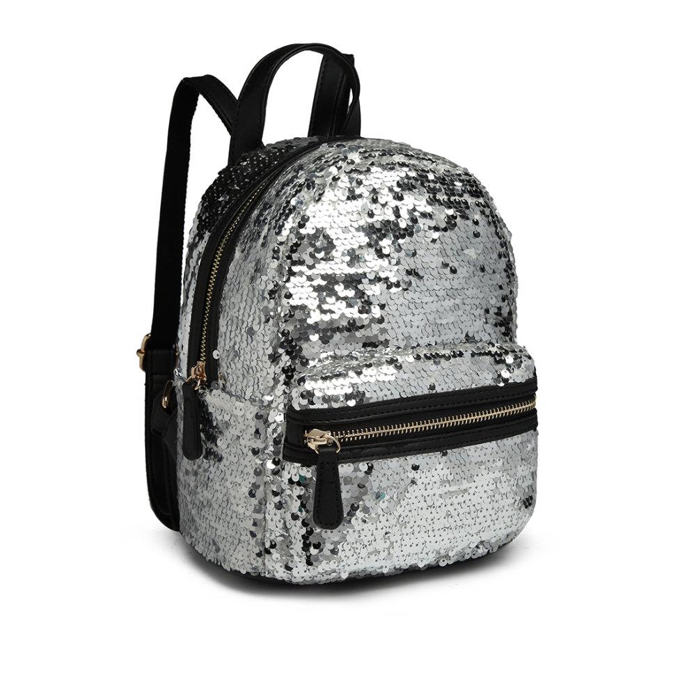 fbcb18459 ... Miss Lulu Sequins Backpack Women Small Rucksack Girls School Bag - 2 ...