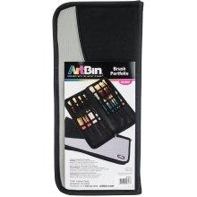 """ArtBin Brush Folio-15.125""""X6.625""""X1.375"""" Black"""