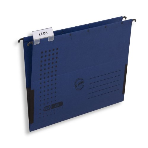 Elba Chic Ultimate 85743GB Suspension File Folder with Partially Closed  Sides Pack of 25 Dark Blue
