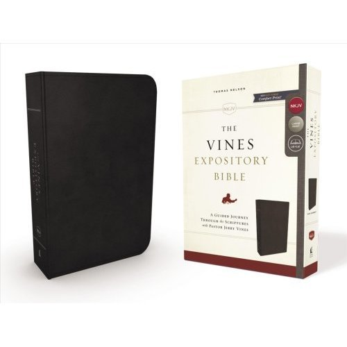 The NKJV, Vines Expository Bible, Leathersoft, Black, Comfort Print