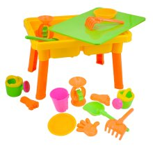 deAO Toys Lidded Sand & Water Table Set | 2-in-1 Toddler Play Table