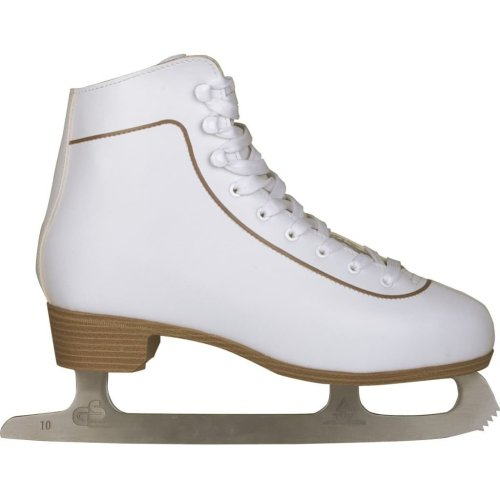 Nijdam Women's Figure Skates Classic Leather Size 38 0043-WIT-38